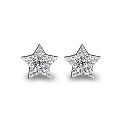 ~925純銀耳環鑲鑽耳飾~極光炫彩星星 母親節生日情人節 女飾品73dm123~ ~~米蘭