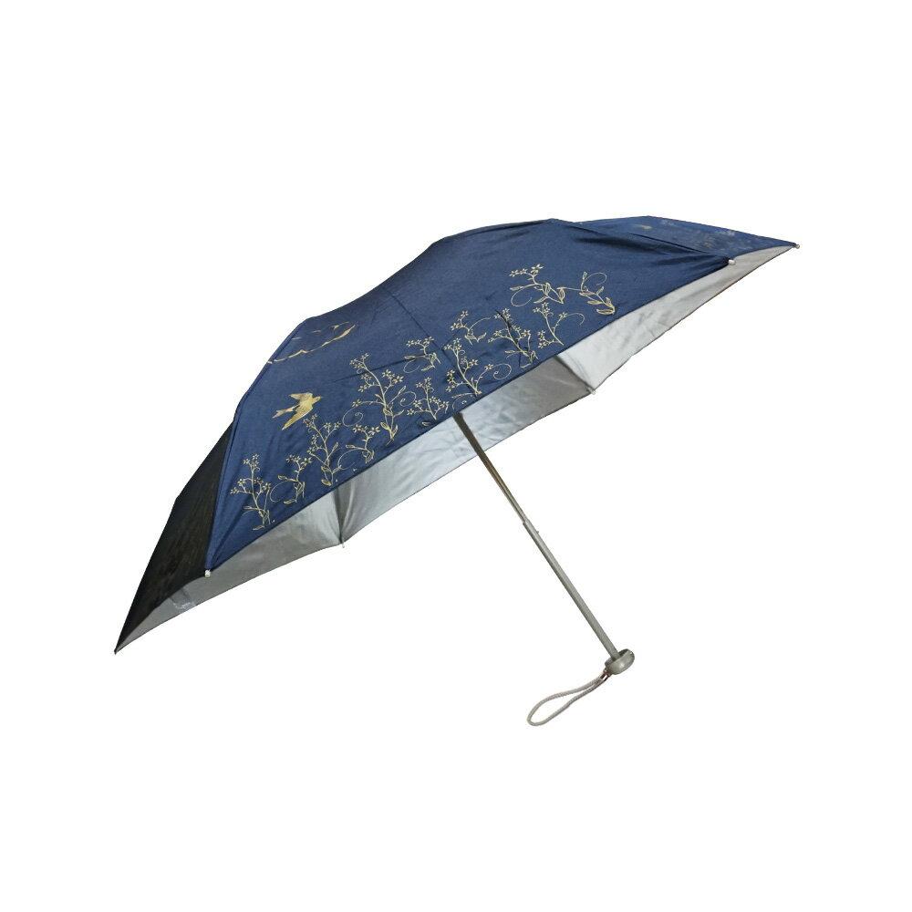雨傘 陽傘 ☆萊登傘☆ 抗UV 防曬 超細三折傘 日式骨架 防風抗斷 銀膠 Leighton 飛鳥印花