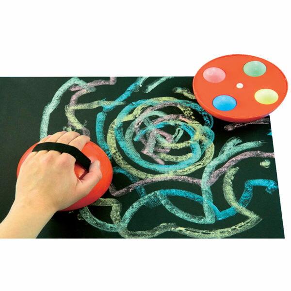 【華森葳兒童教玩具】美育教具系列-大粉筆圓架 L1-AP/2059/GCPM