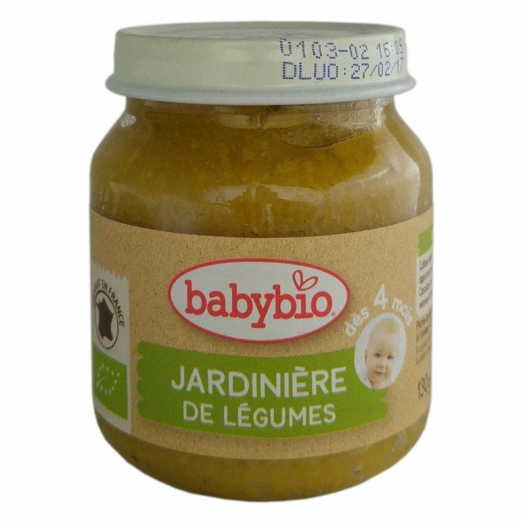 法國 倍優 Babybio 有機綜合鮮蔬泥-田園鮮蔬 4m+ 蔬菜泥 有機副食品