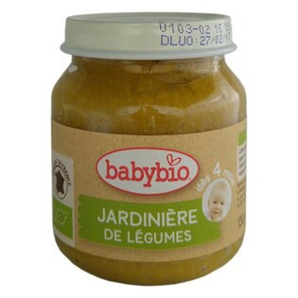 法國倍優Babybio有機綜合鮮蔬泥-田園鮮蔬4m+蔬菜泥有機副食品