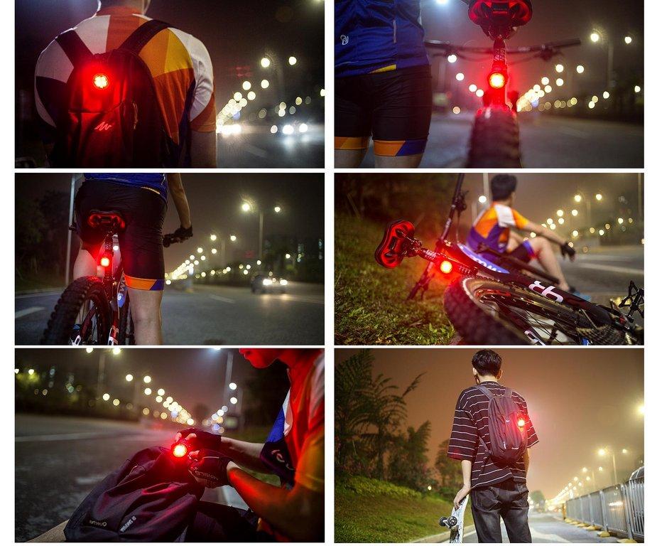 《意生》【USB充電】智能剎車感應尾燈 警示燈 + 煞車燈 TWOOC 單車後燈 腳踏車USB充電燈 自行車尾燈 車尾燈 7