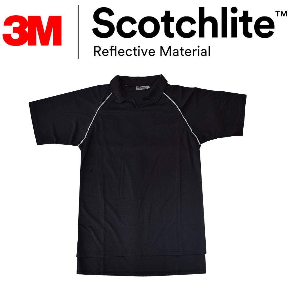 【safetylite 安心生活館】反光360度前短後長排汗透氣運動衫-大尺碼 3M Scotchlite