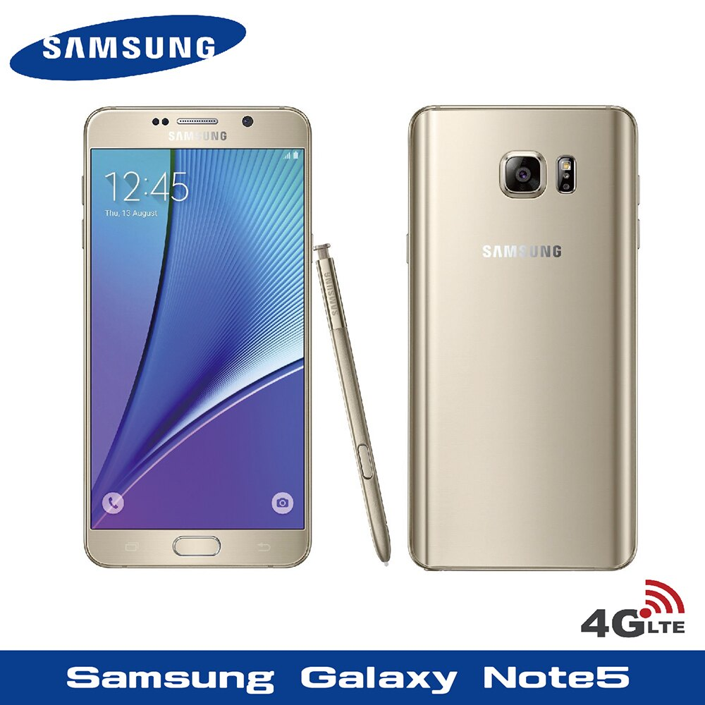 福利品 Samsung Galaxy Note 5 32G 5.7吋雙卡智慧手機 螢幕烙印 贈-防摔空壓殼 + 9H鋼化玻璃貼(Note 5 N9208)