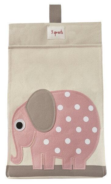 【淘氣寶寶】加拿大 3 Sprouts 尿布收納袋-大象【大容量口袋,收納便利】【保證公司貨】