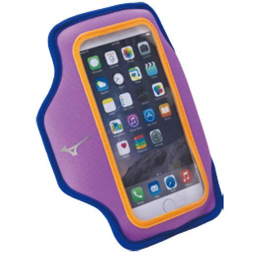 [陽光樂活] MIZUNO 美津濃 運動 跑步 輕量防水 可觸控 手機臂套 手臂包 D3TY602067 紫