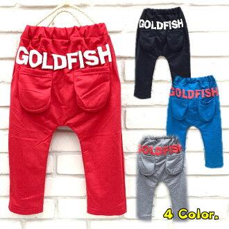 【班比納精品童裝】GOLDFISH毛圈雙口袋外出棉褲哈倫褲-四色可選【BB151024003/04/05/10】