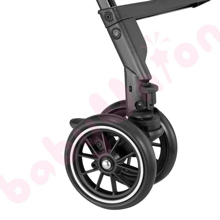 【點數下單送咖啡】Combi康貝 - Handy Auto 4 Cas PLUS 輕量四輪自動鎖放手推車 水晶黑 1