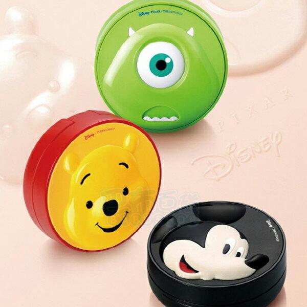 韓國 THEFACESHOP 迪士尼聯名 持久保濕降溫感/完美修容彈力感 氣墊粉餅(15g) 米奇 大眼仔 維尼【巴布百貨】
