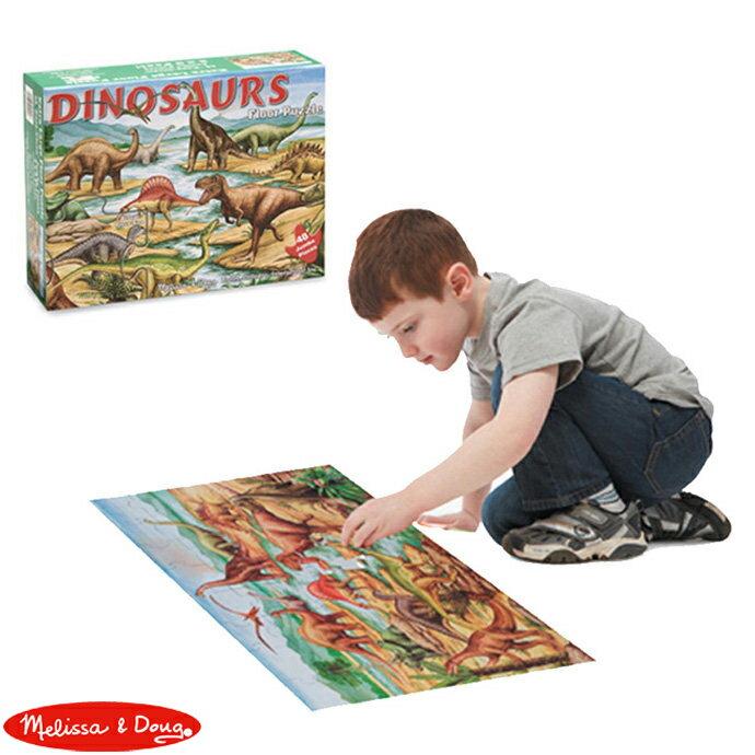 【華森葳兒童教玩具】科學教具系列-Melissa&Doug 地板拼圖-恐龍 N7-421