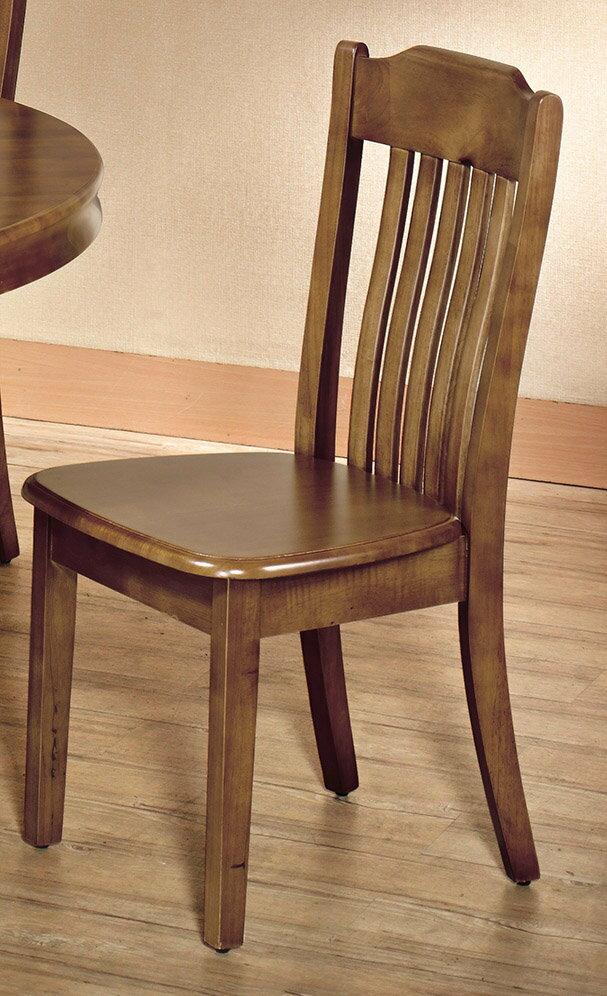 【石川家居】CE-457-08 查理柚木色餐椅 (單張)(不含餐桌與其他商品)