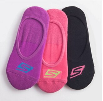 [陽光樂活] SKECHERS 女款 時尚休閒系列 運動隱形襪 S101585-015 三組 共9 雙