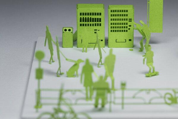 【寺田模型】建築紙模型東京手作DIY交換禮物