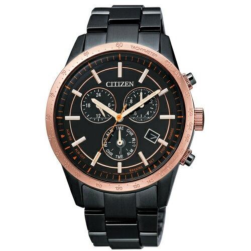 CITIZEN萬年曆光動能時尚腕錶贈小牛皮錶帶BL5496-61E