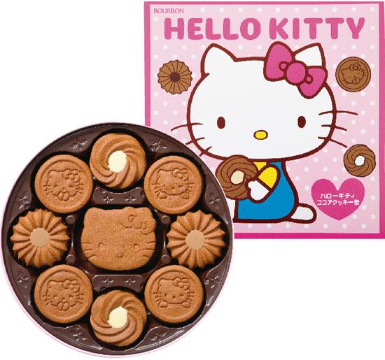 【Bourbon北日本】Hello Kitty巧克力餅乾禮盒(粉) (338g) ハローキティ ココアクッキー缶
