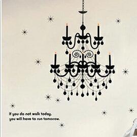 WallFree窩自在 DIY無痕壁貼 牆貼-璀璨水晶燈 AY819