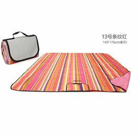 WallFree窩自在 防水耐磨戶外郊遊野餐墊/遊戲毯(小尺寸150*100CM)-紅條紋