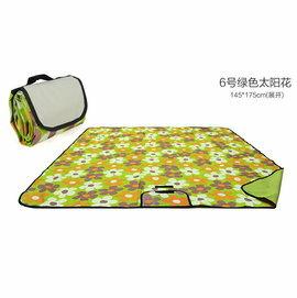 WallFree窩自在 防水耐磨戶外郊遊野餐墊/遊戲毯(小尺寸145*100CM)-綠小花