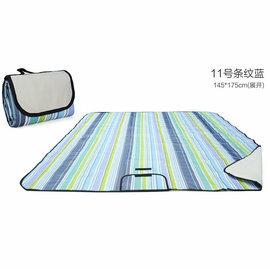 WallFree窩自在 防水耐磨戶外郊遊野餐墊/遊戲毯(大尺寸145*180CM)-藍條紋