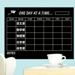 WallFree窩自在 DIY無痕創意牆貼/壁貼-星期行事曆(附粉筆)