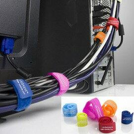 WallFree窩自在 多功能彩色線材收集帶/固線帶/集線帶(6入/盒)