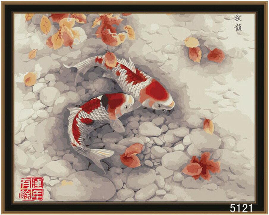 WallFree DIY手繪數字油畫 名畫系列(連年有餘 秋韻)