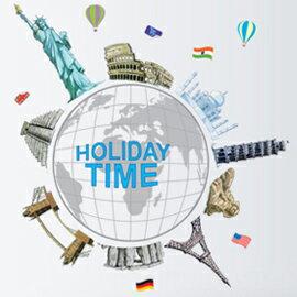 WallFree窩自在 DIY無痕創意牆貼/壁貼-AY9187_旅遊全世界/環遊全世界