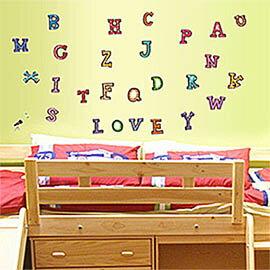 WallFree窩自在 DIY無痕壁貼 牆貼-字母ABC Y0001
