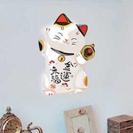 WallFree窩自在★(新年壁貼年前才可出貨) 新年款 DIY無痕壁貼 牆貼-招財貓-金運來福 AY950D