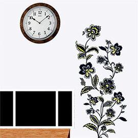 WallFree窩自在 DIY無痕壁貼 牆貼-黑玫瑰 AY7041
