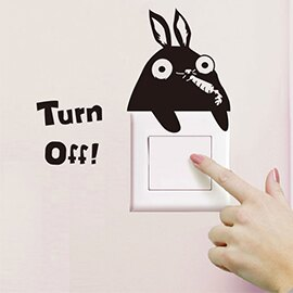 WallFree窩自在 DIY無痕創意牆貼/隨意貼-兔子開關貼