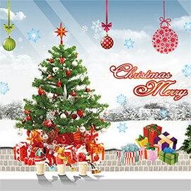 WallFree窩自在 DIY無痕壁貼 牆貼-禮物聖誕樹 AY226(A)