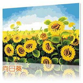 WallFree DIY手繪數字油畫 名畫系列(陽光向日葵)