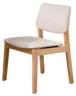 【石川家居】YE-A474-10史蒂夫原木亞麻皮餐椅(白皮)(單張)(不含餐桌與其他商品)台北到高雄搭配車趟免運