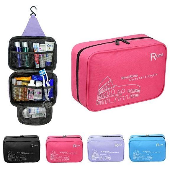 Life365:韓國牛津布掛壁盥洗收納包旅遊旅行化妝包旅行組行李箱防水收納袋包中包卡包包包【RB327】