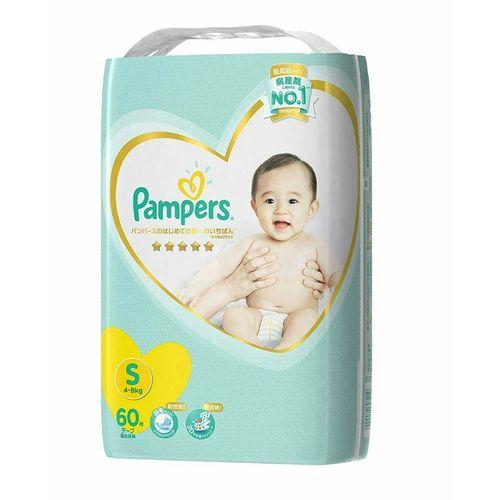 (全)Pampers幫寶適日本境內版五星尿布紙尿褲S60片X4包(黏貼型)箱購★衛立兒生活館★