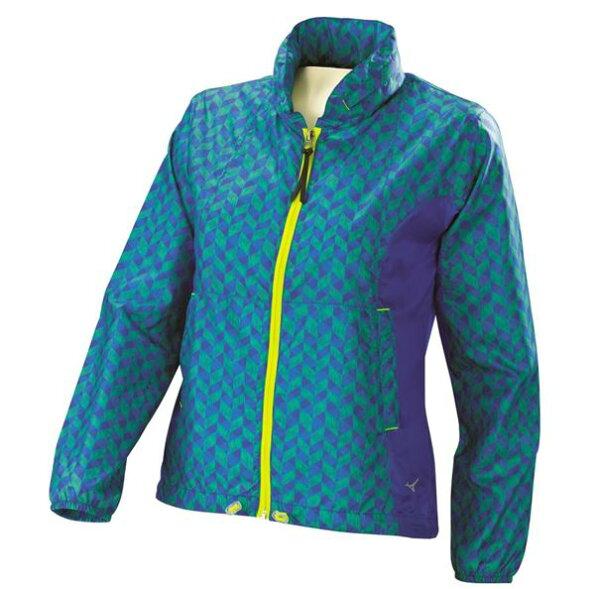 [陽光樂活]!限時6折!MIZUNO美津濃女路跑風衣J2TC578132防潑水抗紫外線