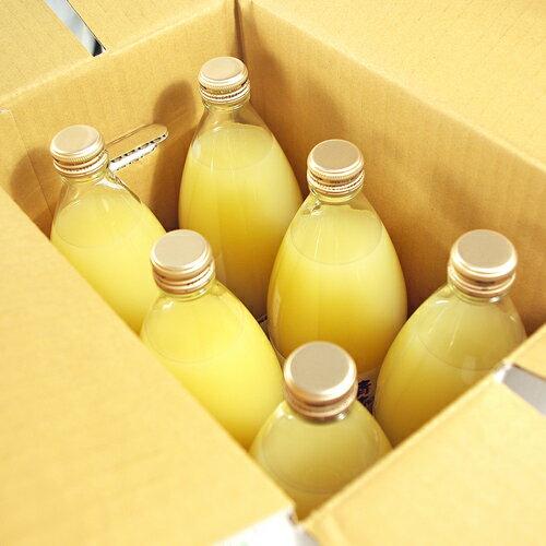 【鮮果日誌】日本青森縣100%蘋果汁(日本原裝進口6入玻璃瓶裝/1000ml)