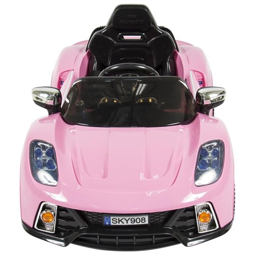 Best Choice Products 12V Kids Battery Powered Remote Control Electric RC Ride-On Car w/ LED Lights, MP3, AUX - Pink 1