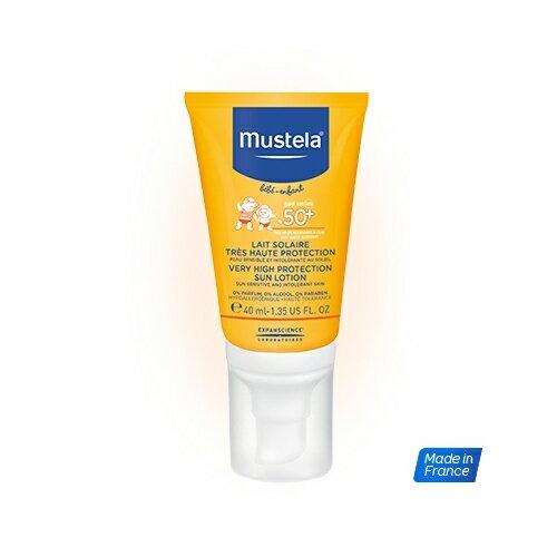 Mustela慕之恬廊 - 高效性兒童防曬乳 SPF50+ 40ml 贈免用水清潔液50ml