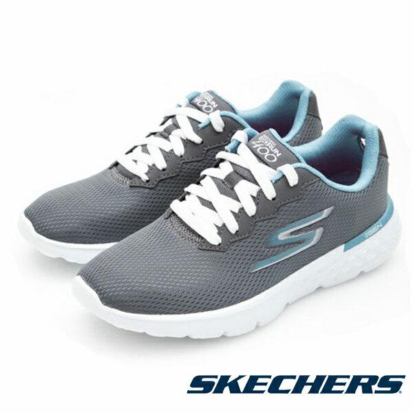 【SKECHERS 限定商品8折 │全店免運】SKECHERS 跑步系列 Go Run 400 女 灰藍 休閒鞋│運動鞋│健走鞋