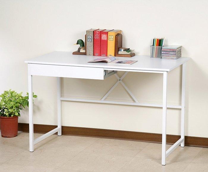 120防潑水工作桌(附抽屜) 電腦桌 書桌~25mm粗鐵管(穩固耐用)【馥葉2】【型號DE017-DR】可加購玻璃