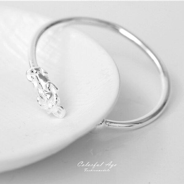 銀飾象徵招財貔貅C型手環【NPA97】可微調