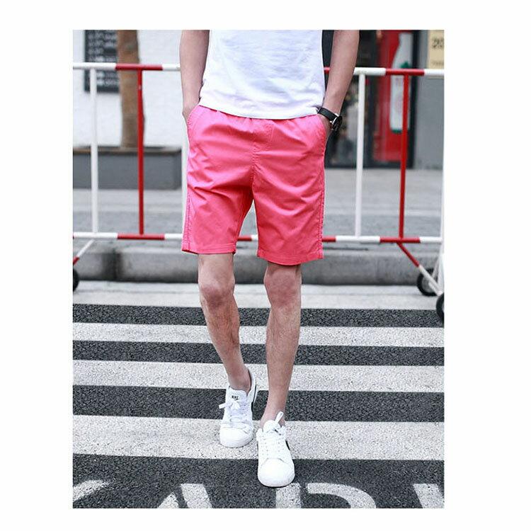 【專區任選2件$580】 最新款日系新品潮流經典純色休閒短褲 3