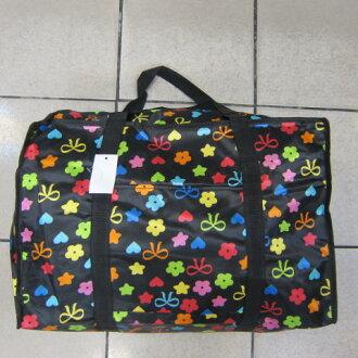 ~雪黛屋~Better 旅行袋簡易型旅行袋防水尼龍布材質可壓扁收納不占空間可手提可肩背 #001 黑星星