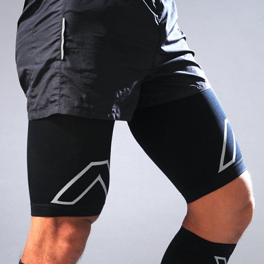SHAPER MAN-耐力機能壓縮大腿套 (黑)