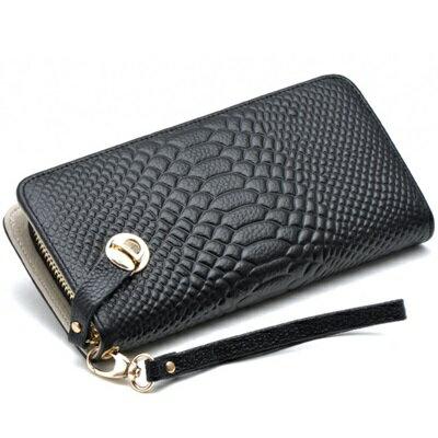 皮夾 長夾 鱷魚紋零錢包~高貴奢華 女包包6色73eb13~義大利 ~~米蘭 ~ ~  好