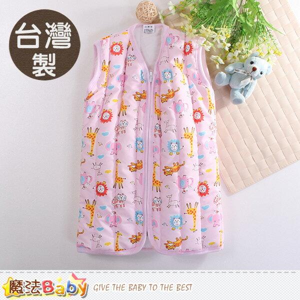 嬰幼兒睡袍 台灣製厚鋪棉保暖背心睡袍 魔法Baby~k60426
