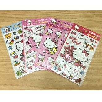 【真愛日本】 17050600031 二代靜電貼紙-KT4款 三麗鷗kitty 凱蒂貓 筆電裝飾貼 行李箱貼 靜電貼