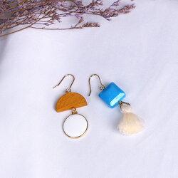 娜芙蒂蒂之美-深藍  /  耳針